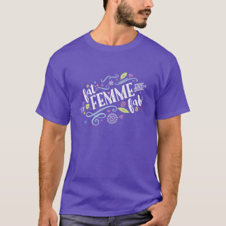 Fat, Femme, and Fab - Unisex Purple Tee