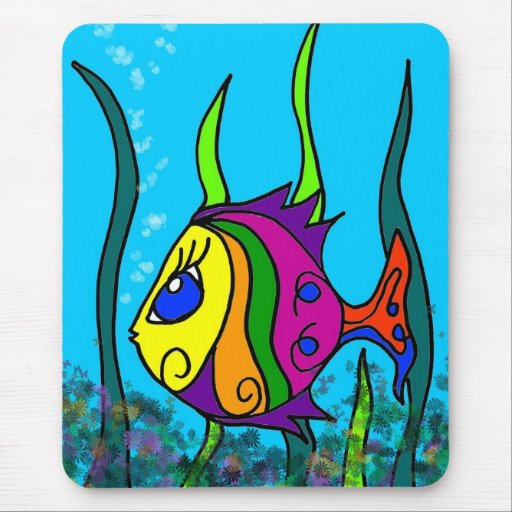 Fat Fish Colorful Mousepad