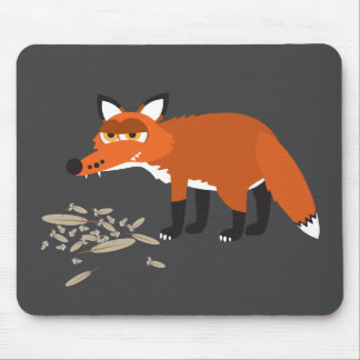 Fat fox mouse pad