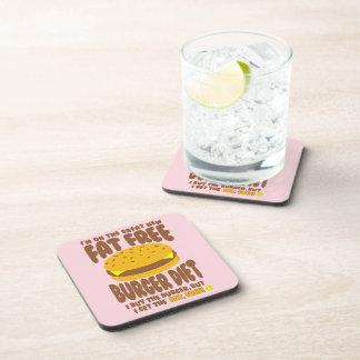 Fat Free Burger Diet Beverage Coaster