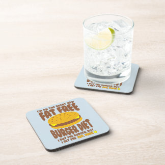 Fat Free Burger Diet Coaster