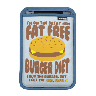 Fat Free Burger Diet iPad Mini Sleeve