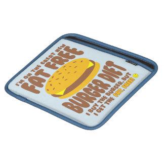Fat Free Burger Diet iPad Sleeve