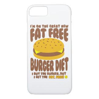 Fat Free Burger Diet iPhone 8/7 Case