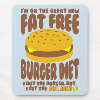 Fat Free Burger Diet Mouse Pad
