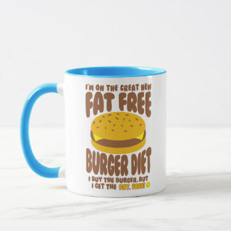 Fat Free Burger Diet Mug