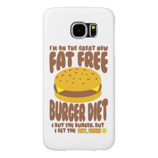 Fat Free Burger Diet Samsung Galaxy S6 Cases