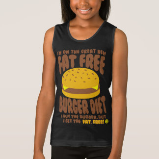 Fat Free Burger Diet Singlet