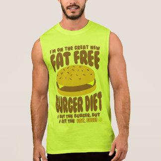 Fat Free Burger Diet Sleeveless Shirt