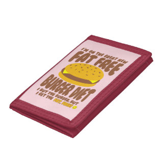 Fat Free Burger Diet Trifold Wallets