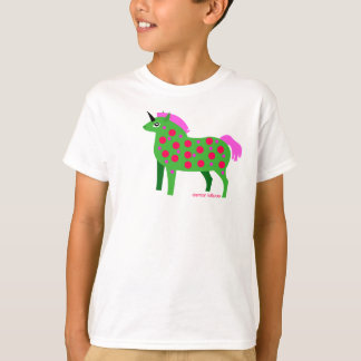 Fat Green and Pink Unicorn Kids T-Shirt