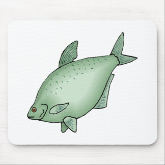 Fat Green Fish Mouse Pad