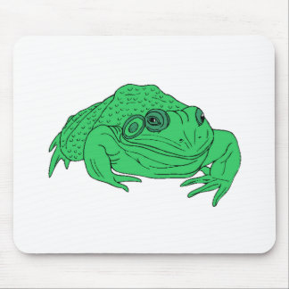 Fat Green Frog Mouse Pads
