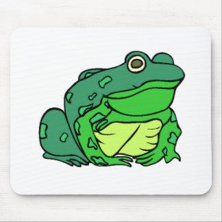Fat Green Frog Mousepads