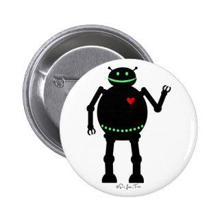 Fat Happy Robot 6 Cm Round Badge