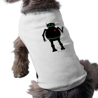 Fat Happy Robot Sleeveless Dog Shirt