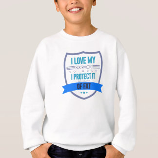 Fat Joke Funny Excuses Food Lover Big Belly Design Sweatshirt