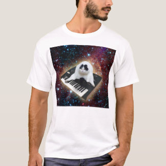 Fat Keyboard Space Cat T-Shirt