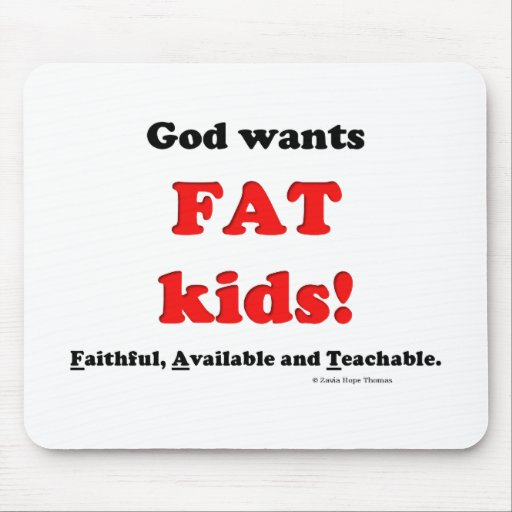fat kids mouse pad