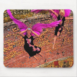 Fat ladies like to fly too mouse pad