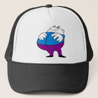 fat-man-cartoon trucker hat