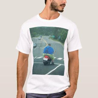 Fat man on a moped T-Shirt