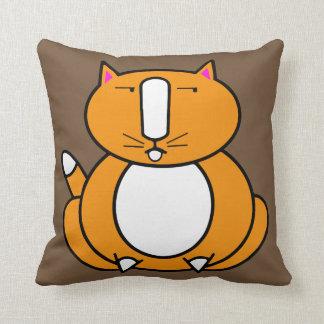 Fat  Orange Ginger Cat Throw Pillow