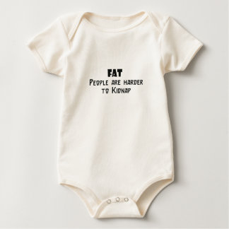 fat people are harder to kidnap baby bodysuit