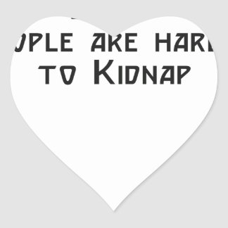 fat people are harder to kidnap heart sticker