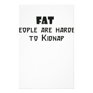 fat people are harder to kidnap personalized stationery