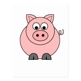 Fat Pink Pig Postcard