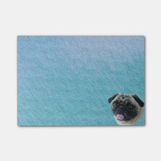Fat Pug Portrait Post-it Notes