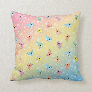 Fat Rainbow Narwhal Pattern Cushion