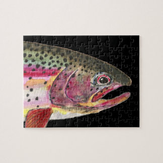 Fat Rainbow Trout Fishing Jigsaw Puzzle