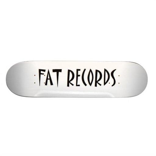 FAT RECORDS SKATEBOARD
