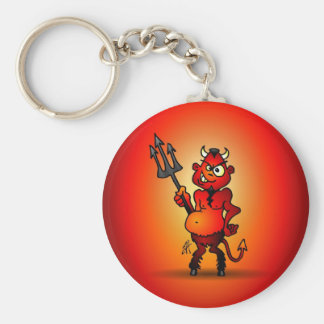 Fat red devil key ring
