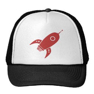 Fat Retro Rocket Ship Red Cap