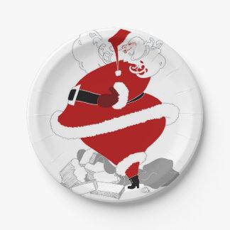 Fat Santa 7 Inch Paper Plate