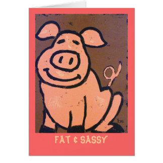Fat & Sassy card
