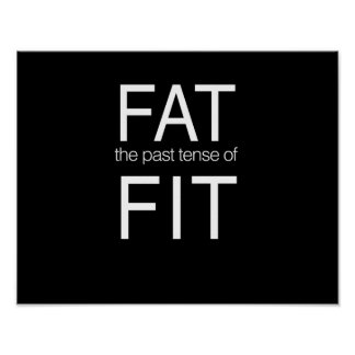 Fat the Past Tense of Fit Poster