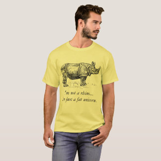 """Fat Unicorn"" Rhinoceros T-Shirt"