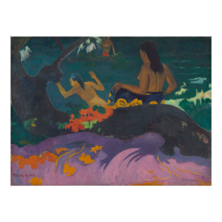 Fatata te Miti By the Sea Gauguin Poster