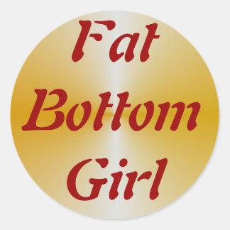 FatBottomGirl Classic Round Sticker