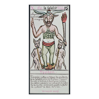 Fate, tarot card, French Poster