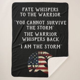FATE WHISPERS TO THE WARRIOR SHERPA BLANKET