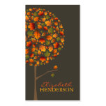 fatfatin Autumn Leaves Pop Tree Business Card