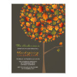 fatfatin Autumn Leaves Pop Tree Thanksgiving Personalised Invite