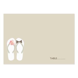 fatfatin Beach Pink Flip Flops Guest Place Card Business Card Templates