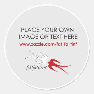 fatfatin Blank Custom Your Own Design Sticker