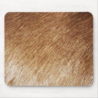 fatfatin Brown Fur Texture Photo Mousepad